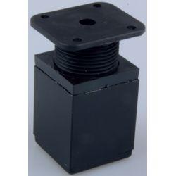 nožička 40x40mm, černá matná