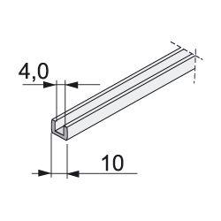 tesnění na sklo tloušťky 4mm