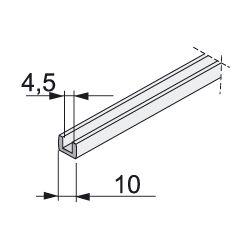 tesnění na sklo tloušťky 4,5mm