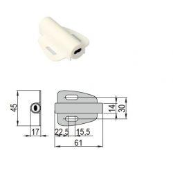 STRONG dveřní/bezdotykový senzor plastový 12-24V 4A bílý konektory Mini