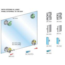 Pre sklenené dvierka- naložené bez tlmenia