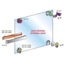 Pre sklenené dvere - vložené s tlmením vonkajším